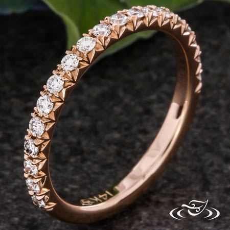 ROSE GOLD FRENCH PAVE BAND