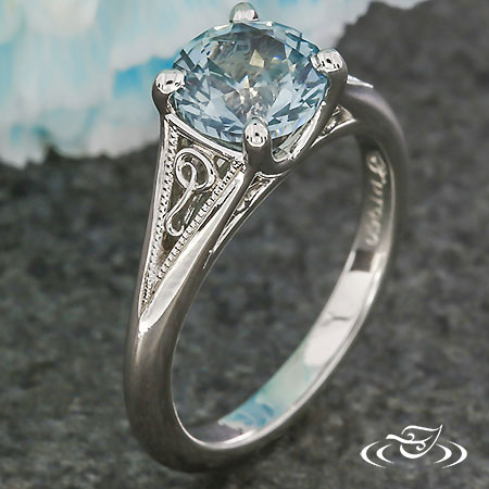 FILIGREE 'Q' ENGAGEMENT RING