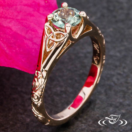 Trinity Knot Rose Gold Engagement Ring