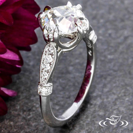 DIAMOND LEAF ENGAGEMENT RING