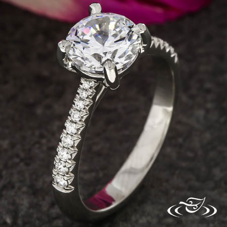 ACCENTED DIAMOND SOLITAIRE
