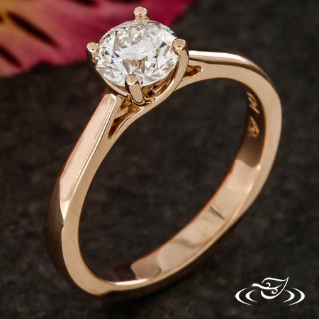ROSE GOLD TRELLIS SOLITAIRE