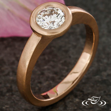 FULL BEZEL CONTEMPORARY ENGAGEMENT RING