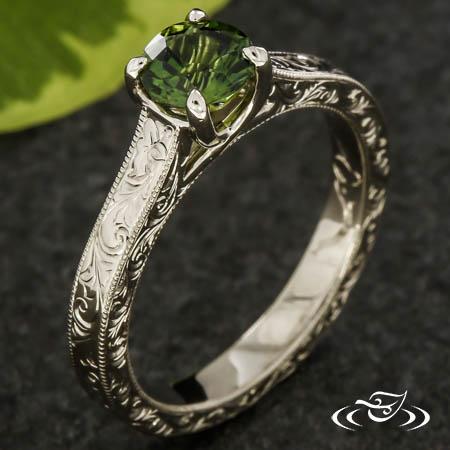 Symbolic Trellis Engagement Ring