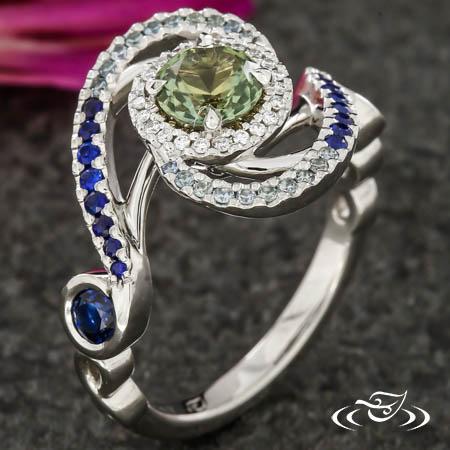 Montana Sapphire Galaxy Ring