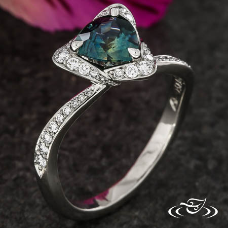 TRINITY HALO ENGAGEMENT RING