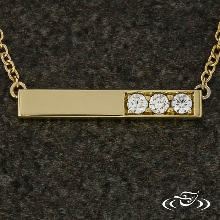 BAR PENDANT WITH DIAMOND ACCENTS