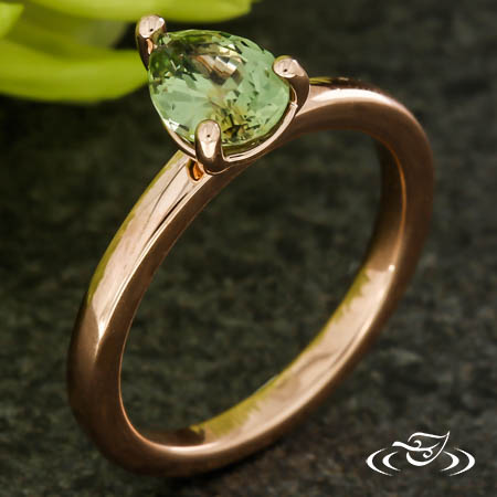 Pear Shaped Montana Sapphire Engagement Ring