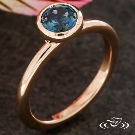 Modern Rose Gold Solitaire
