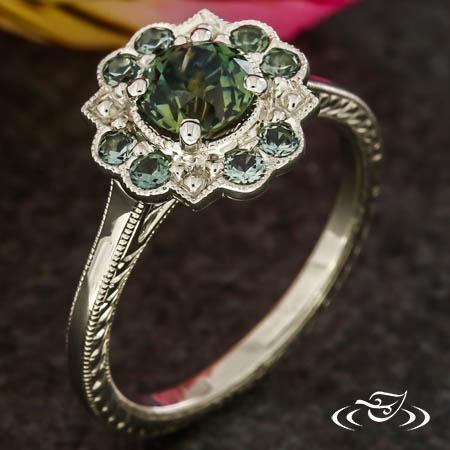 Vintage Montana Sapphire Engagement Ring