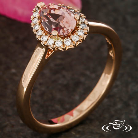 PRETTY IN PINK PEAR SHAPED HALO