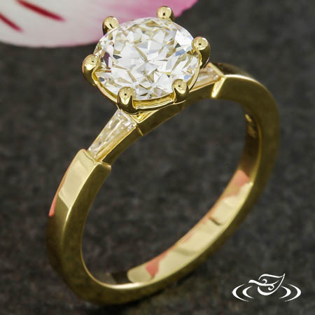 Classic Baguette Solitaire Engagement Ring
