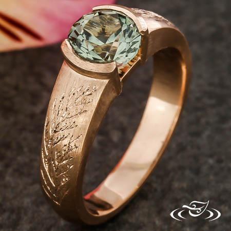 Western Red Cedar Engagement Ring