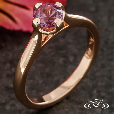 Pink Montana Sapphire Engagement Ring