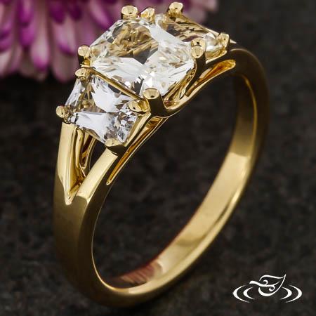 Radiant Three-Stone Engagement Ring