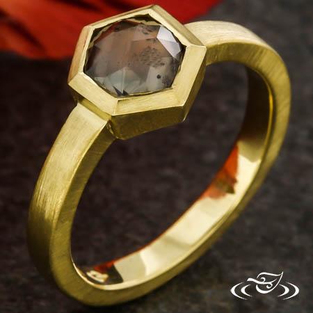 Rose Cut Montana Sapphire Ring