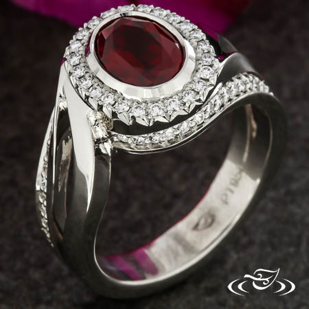 Ruby Halo Wrap Ring