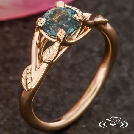 Trellis Rose Gold Engagement Ring