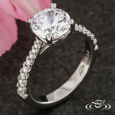 Trellis Diamond Solitaire