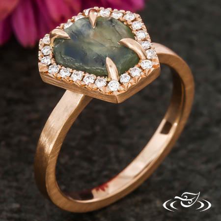 Rustic Montana Sapphire Ring