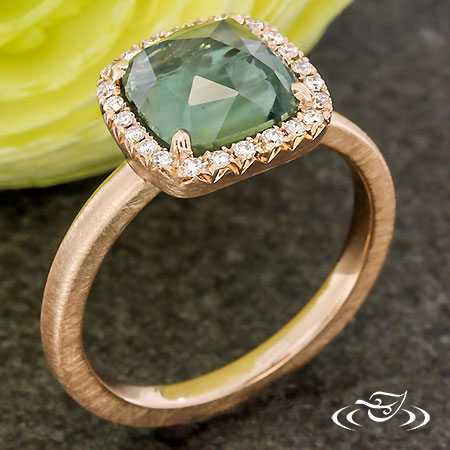Contemporary Halo For Rose Cut