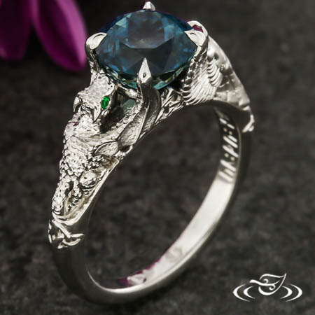 Dragon And Owl Engagement Ring
