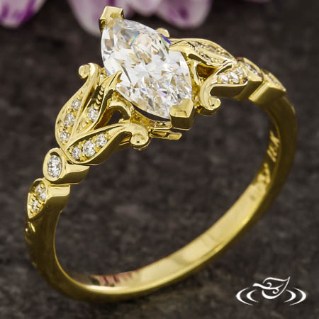 Marquise Antique Inspired Ring