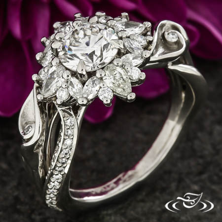 Calla Lily Engagement Ring