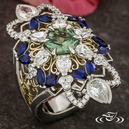 Mandala Halo Ring