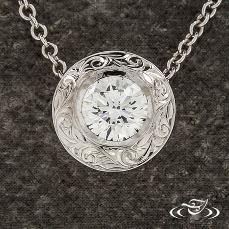 Vintage Inspired Diamond Pendant