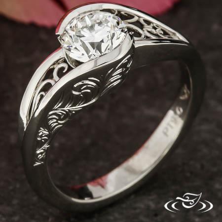 Filigree Wrap Engagement Ring