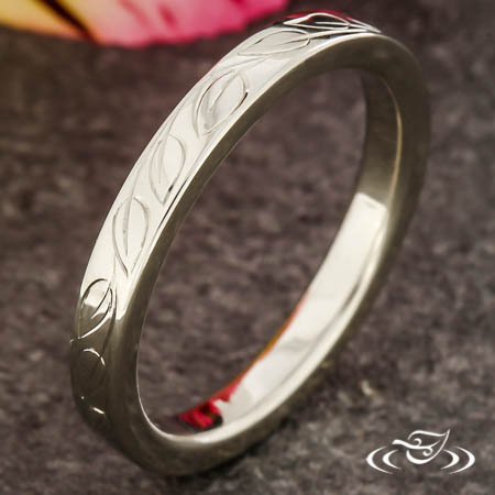 Engraved Vine Band