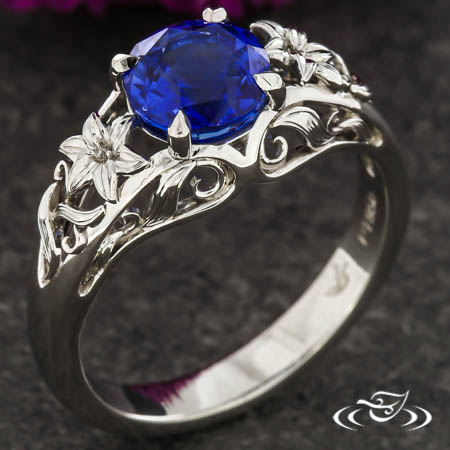 Lily And Vine Sapphire Engagement Ring