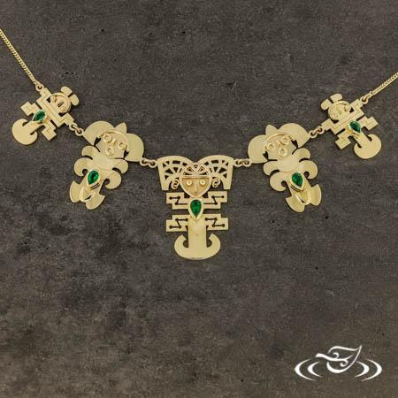 Emerald & Incan Bib Necklace