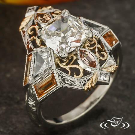 Art-Deco-Inspired Engagement Ring