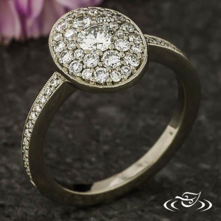 Pavé Halo Ring