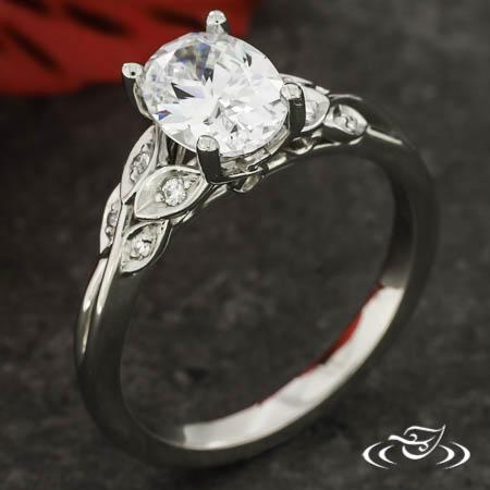Leaf And Vine Engagement Ring