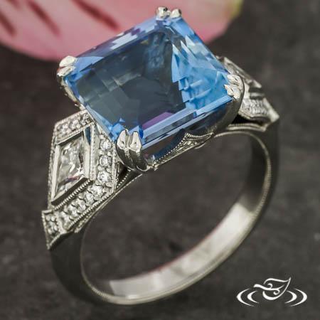 Aquamarine Art Deco Ring