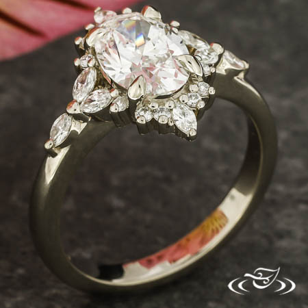 Accented Oval Engagement Ring