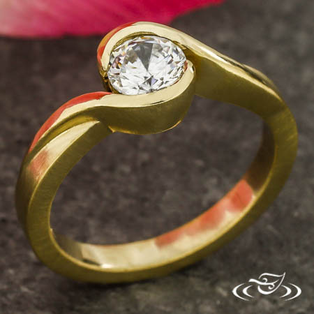 Wrap Style Engagement Ring