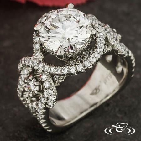 Interwoven Pavé Engagement Ring