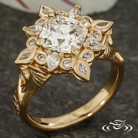 Armenian Halo Ring