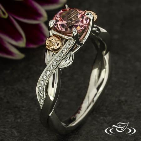 Peony Twist Sapphire Engagement Ring
