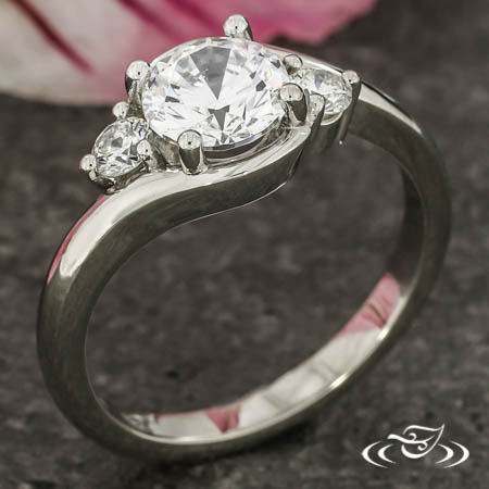 Three Stone Bypass Style Ring