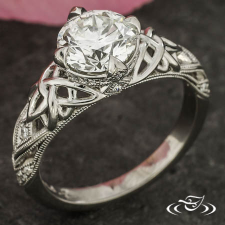 Celtic Lotus Knot Engagement Ring