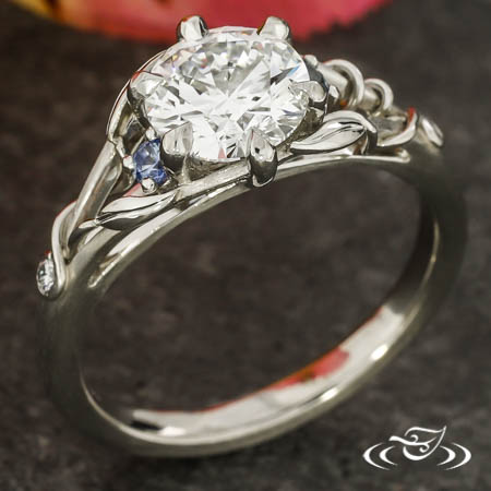 Montana Sapphire Vine Engagement Ring