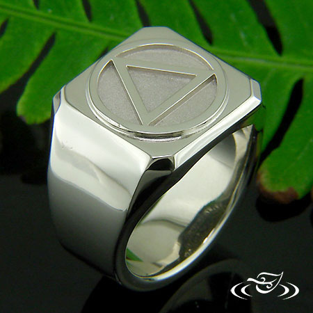 14KT WHITE GOLD SIGNET RING