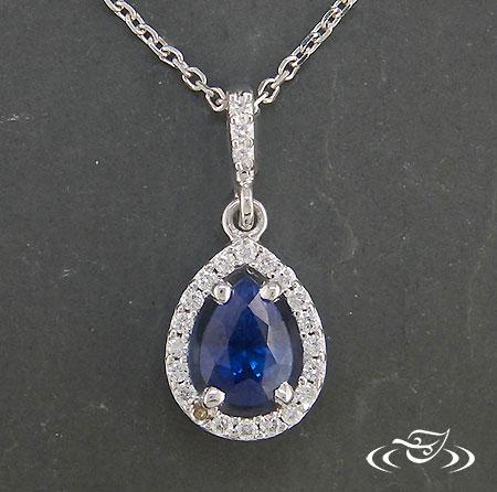 tear shape sapphire jewellery gold necklace gemstone pendant handmade natural stone rare necklace Sapphire gold chain necklace