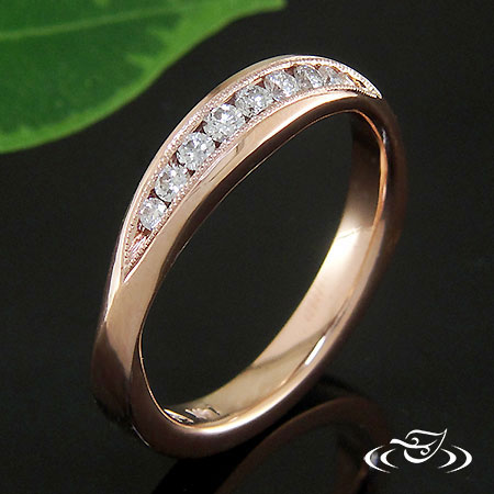 14K ROSE GOLD WEDDING BAND